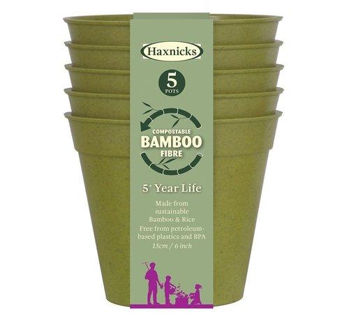 Haxnicks Bamboe bloempot - Middel - 5 stuks - 10 cm
