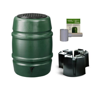 Harcostar Regentonset Harcostar - 168 Liter Groen + Voet + Vulautomaat