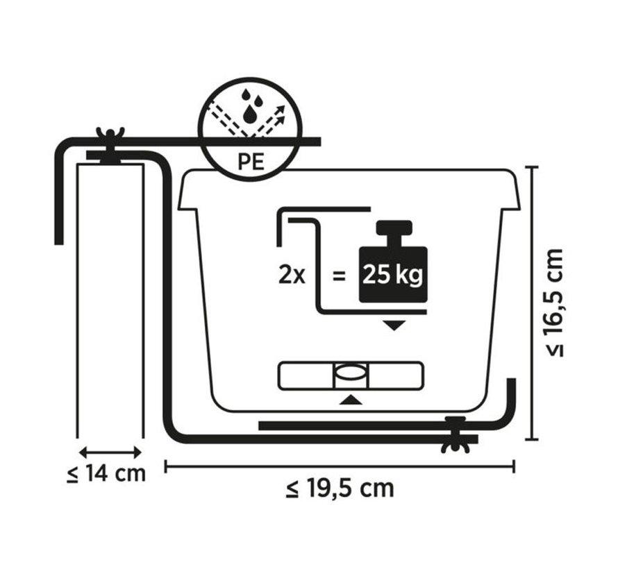 Balkonhaak Type D steengrijs