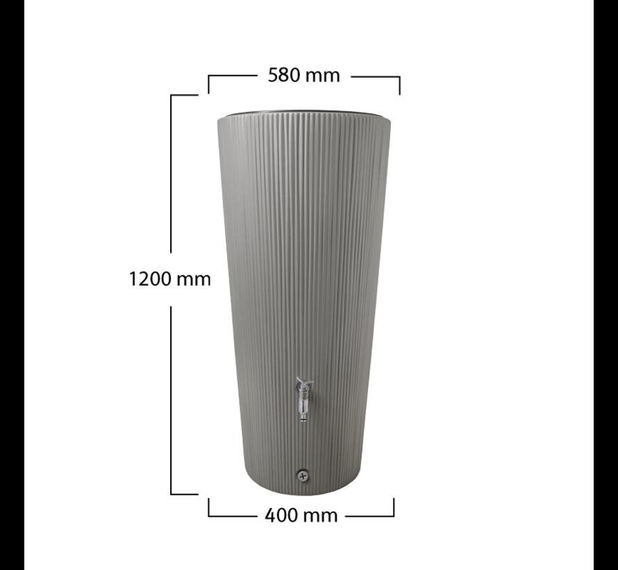 Regenton Vaso Decor - Antraciet - 220 Liter + Vulautomaat