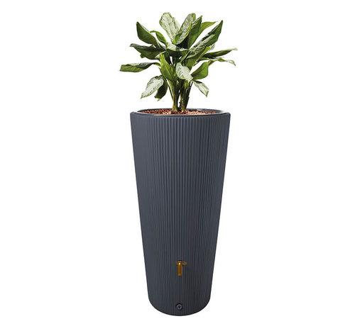 Garantia Regenton Vaso Decor - Antraciet - 220 Liter + Vulautomaat