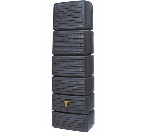 Garantia Regenton Slim - Wood Decor Antraciet - 300 Liter