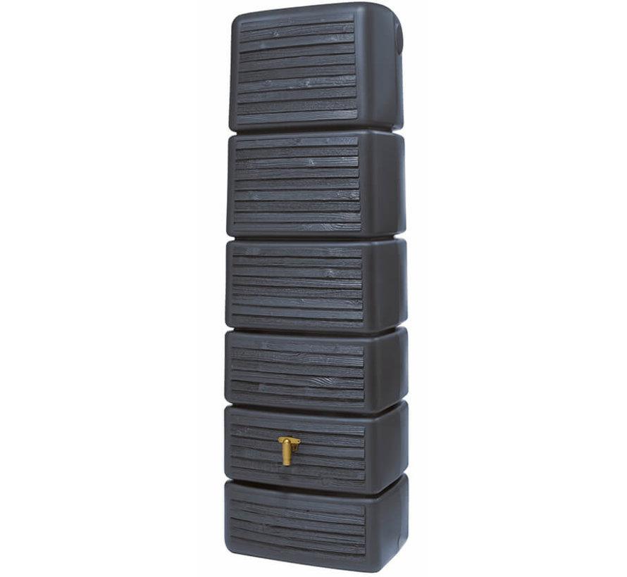 Regenton Slim - Wood Decor Antraciet - 300 Liter