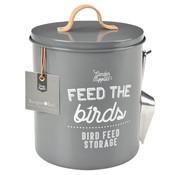 Burgon & Ball Rond blik voor vogelvoer - Antraciet