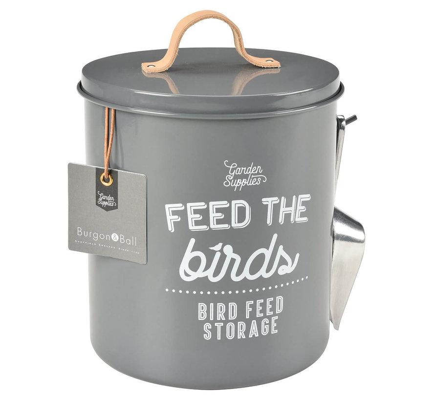 Rond blik voor vogelvoer - Antraciet