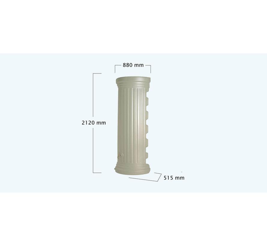 Regenton Column Muur - 550 liter - Zandbeige - Tweedekans