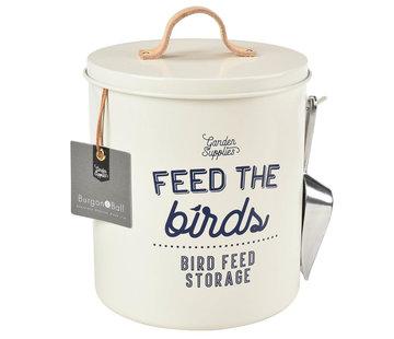 Burgon & Ball Rond blik voor vogelvoer - Crème