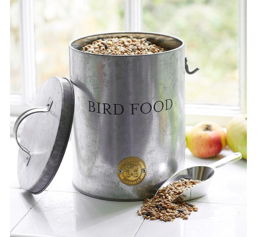Rond blik voor vogelvoer - Gegalvaniseerd