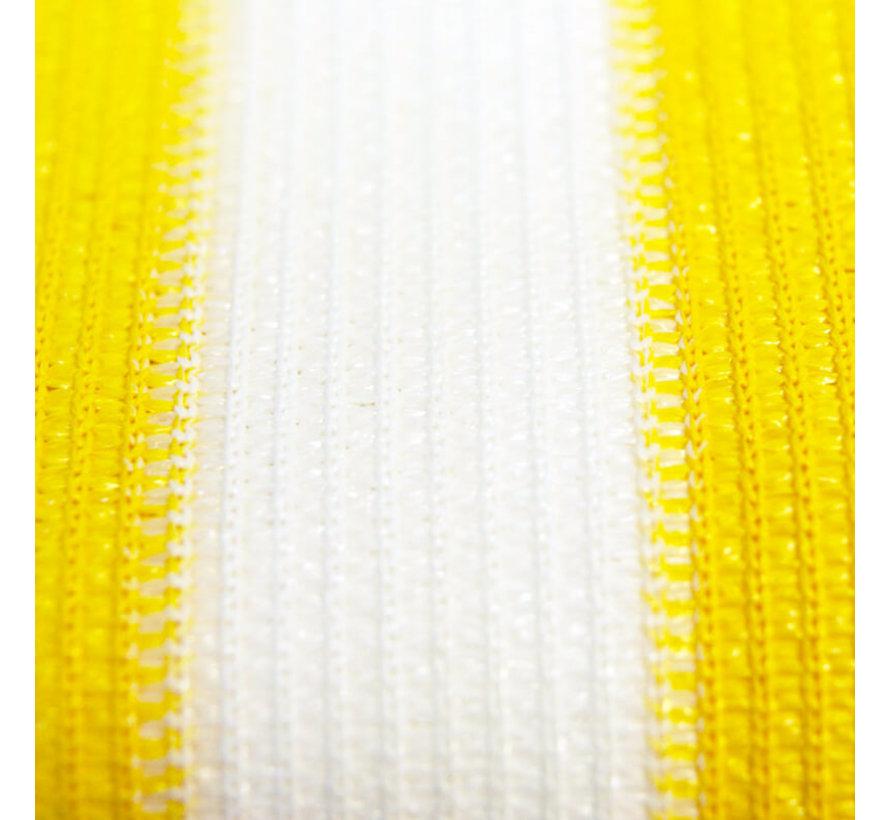 Balkondoek Geel / wit - Per meter