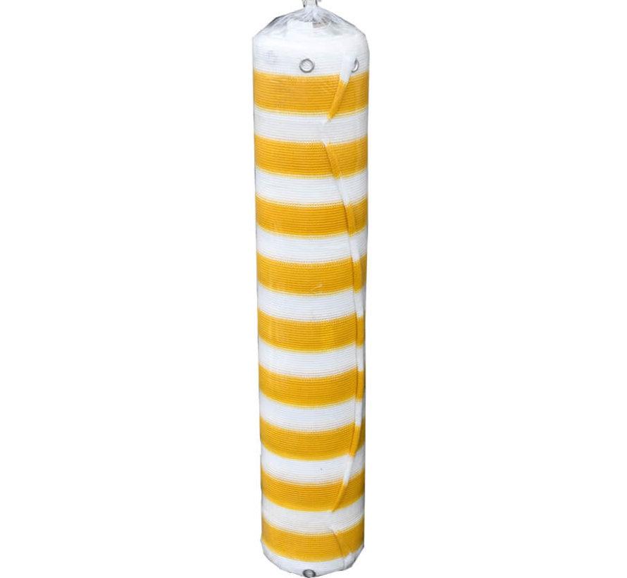Balkondoek - Geel / Wit - 25 meter