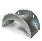 De Wiltfang Wandslanghouder Groot - Verzinkt staal
