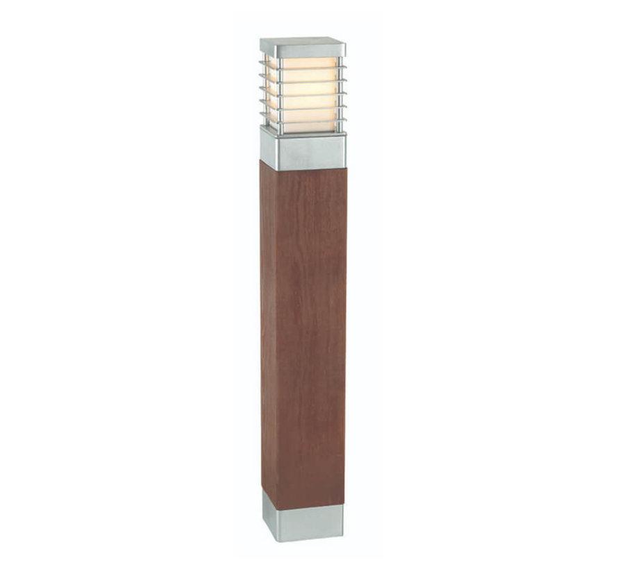 Staande buitenlamp - 85cm - Selham - Gegalvaniseerd + Hout