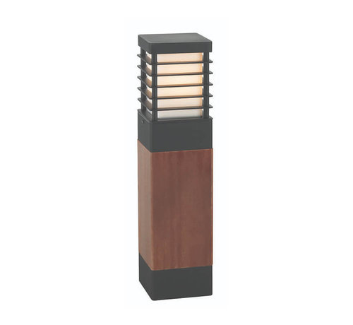 Franssen Verlichting Staande buitenlamp - Selham - Zwart + Hout
