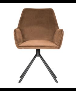 Amber eetkamerstoel fluweel  / 2 KLEUREN - set van 2 stoelen