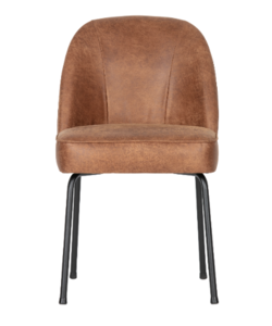 Vogue eetkamerstoel leer cognac - set van 2 stoelen