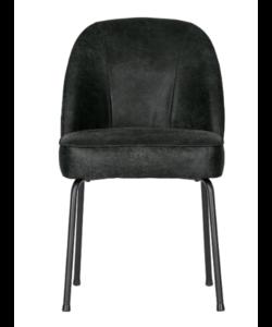 Vogue eetkamerstoel leer zwart - set van 2 stoelen