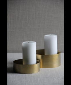 Kaarsen houder Loop Gold set