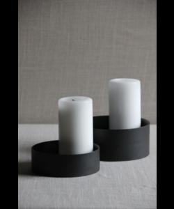 Kaarsen houder Loop Black set