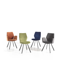 Flynn Velvet stoel beschikbaar in 4 kleuren met of zonder armleuning