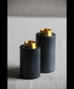 kandelaar set in zwart marmer