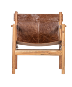 Chill fauteuil echt leer bruin Collection