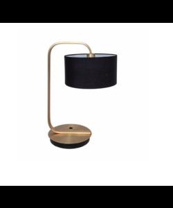 TAFELLAMP GOUD MET ZWARTE SCHOEN & LED-LAMP
