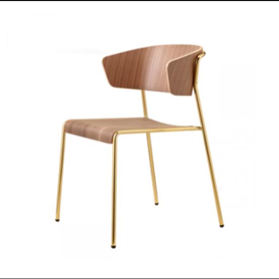 Design Houten Stoelen.Lisa Houten Stoel Met Armleuning V S Furniture More