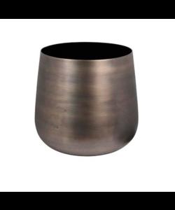 Vaas Aluminium met zwarte binnenkant, te verkrijgen in 2 maten