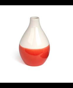 Vaas Keramisch Wit/Oranje