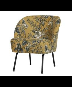 Vogue fauteuil fluweel poppy mosterd