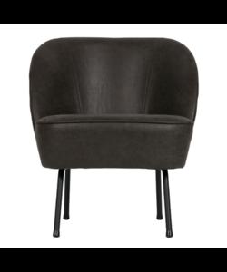 Vogue fauteuil leer zwart
