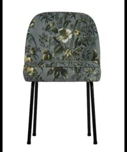 Vogue eetkamerstoel fluweel poppy grijs - set van 2 stoelen