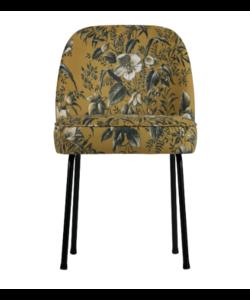 Vogue eetkamerstoel fluweel poppy mosterd - set van 2 stoelen