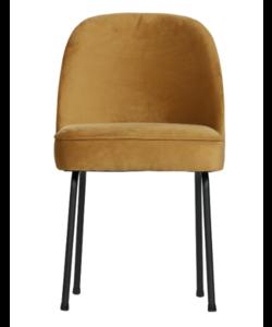 Vogue eetkamerstoel fluweel mosterd - set van 2 stoelen