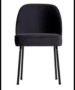 Vogue eetkamerstoel fluweel inkt - set van 2 stoelen