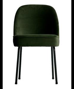 Vogue eetkamerstoel fluweel onyx - set van 2 stoelen