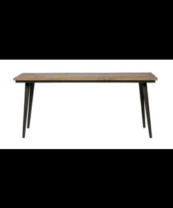Guild tafel naturel met zwart onderstel / 2 afmetingen