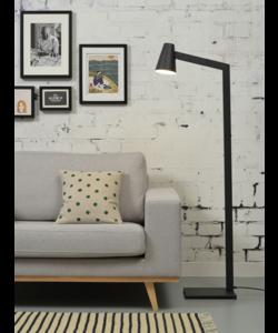 Vloerlamp ijzer Biarritz, zwart