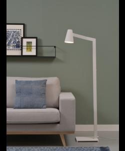 Vloerlamp ijzer Biarritz, wit