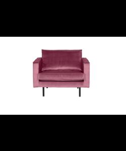 Rodeo fauteuil velvet pink