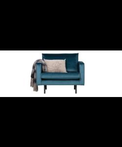 Rodeo fauteuil velvet blue