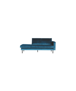Rodeo daybed velvet links/rechts blue