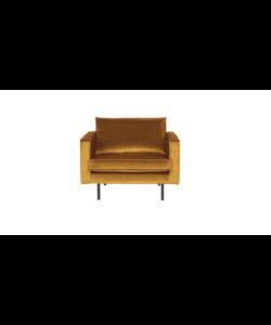 Rodeo fauteuil velvet oker