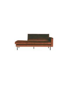 Rodeo daybed velvet links/rechts roest