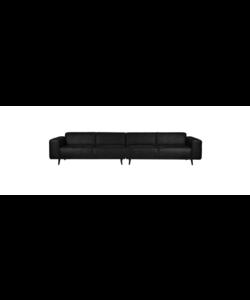 Statement xl 4-zits bank 372 cm suedine zwart