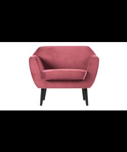 Rocco fauteuil fluweel pink