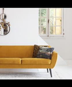 Rocco sofa 187 cm fluweel oker