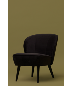 Sara fauteuil fluweel antraciet
