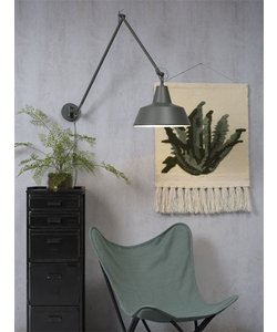 Wandlamp Chicago, grijs-groen