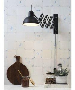 Wandlamp ijzer / schaar Aberdeen, zwart